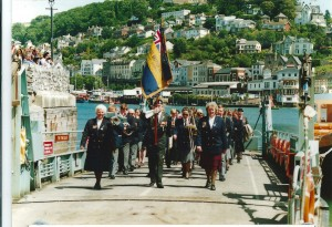 Marching off Dartmouth ferry March 1994
