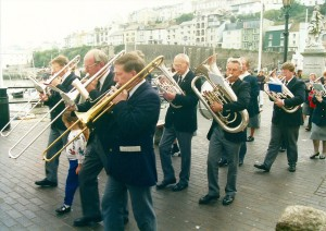 Bass section on Brixham Strand 1995