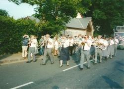 Marching at Dartmouth carnival