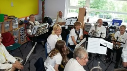 Band at Mayfield school