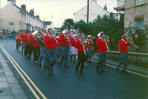 Cowtown carnival marching in 1980s