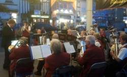 Evening quayside concert