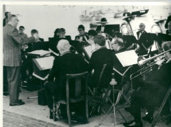 1970 - Brixham British Legion band on Old Fishmarket conducted byDoug Hutchings MD