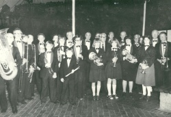 1978 - Brixham British Legion band on the Quayside