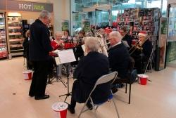 Shoppers carols at Morrisons